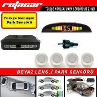 Rotacar Beyaz Park Sensörü Türkçe Konuşan Uyarı Ekranlı Rt 231vb