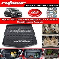 Toyota Yeni Yaris Kalın Stepne 2011 Ve Sonrası Bagaj Havuzu Paspası BG0176