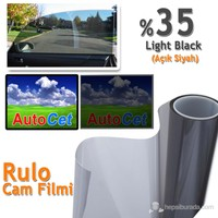 AutoCet 75 cm 6 MT Çizilmez Renkli Rulo Cam Filmi Açık Siyah % 35 L.Black (25261)