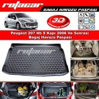 Peugeot 207 Hb 5 Kapı 2006 Ve Sonrası Bagaj Havuzu Paspası BG0143