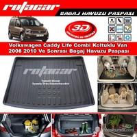 Volkswagen Caddy Life Combi Koltuklu Van 2008 2010 Bagaj Havuzu Paspası BG0200