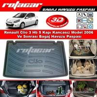 Renault Clio 3 Hb 5 Kapı Kancasız Model 2006 Ve Sonrası Bagaj Havuzu Paspası BG0148