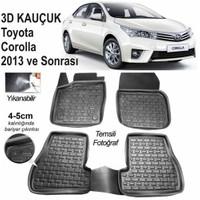 3D Kauçuk Paspas Toyota Corolla 2013 Ve Sonrası Uyumlu Siyah