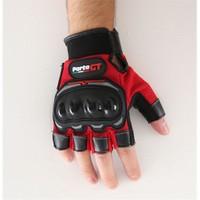 Forte Gt 01P Korumalı 3D Parmaksız Kırmızı Eldiven