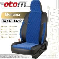 Otom V.W. Crafter 14+1 (15 Kişi) 2007-Sonrası Montana Design Araca Özel Deri Koltuk Kılıfı Mavi-102