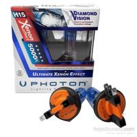 Photon Xenon Ampul 12V H15 5000K Beyaz Işık PH5515