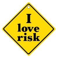 "Z tech "" I LOVE RiSK "" Pleksi Sticker"