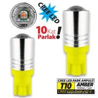Jsv Park Led Ampül T10 Sarı Cree Led