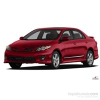 S-Dizayn Toyota Corolla 2007-2013 Arası Kapı Koruma Çıtası Krom P.Çelik + Abs Plastik 8 Prç.