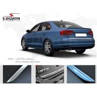 S-Dizayn Volkswagen Jetta Krom Bagaj Alt Çıtası 2014 ve Üzeri Makyajlı