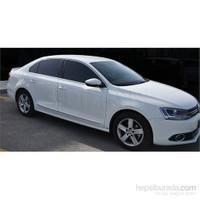 S-Dizayn Volkswagen Jetta 2011 Model ve Üzeri Cam Üst Çıtası 6 Parça Krom Paslanmaz Çelik