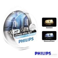 Philips H7 Diamond Vision 2'li Ampul Seti * BEYAZ IŞIK ETKİSİ
