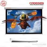 Codegen AX-18 180x180 Storlu İthal Projeksiyon Perdesi (Arkası Siyah Fonlu)