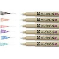 Sakura Pigma Micron Renkli Çizim Kalemi 0.8 Mm Siyah