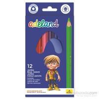 Adeland Jumbo Üçgen Gövde Boya Kalemi 12 Renk (5,4mm)