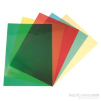 Sarff Pvc 160 Mic A4 Şeffaf Renkli Yeşil Cilt Kapağı 100 adet