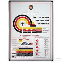 Akyazı 50x70 İkaz Ve Alarm (Mdf Çerçeve)