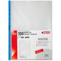 Bigpoint Poşet Dosya Mavi Şeritli Kristal Bp290-90