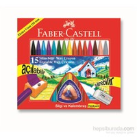 Faber-Castell Silinebilir Mum Boya, 15 Renk (5281122715)