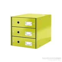 Leitz Wow C&S 3 Çekmeceli Evrak Rafı Metalik Yeşil 60480064