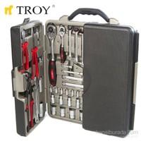 Troy 21910 Profesyonel Lokma - Anahtar - Alet Seti (110 Parça, Metrik)