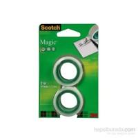 Scotch® Magic Bant, 2'li/ Refil Paket, 19mm x 7,5m