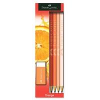 Faber-Castell Kurşun Kalem Orange 4 Lü Blister - 5504113032
