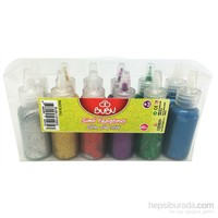 Bu-Bu Simli Yapıştırıcı 20 Gr 6 Renk 12'Li Pvc Bubu-Sy0002