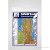A4 Kabartma Türkiye Atlası Haritası