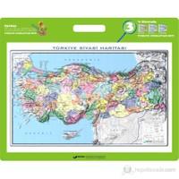 35x50 Kabartma Türkiye Siyasi Haritası