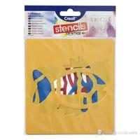 Creall Stencil 14x15 cm/6prç Animal