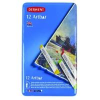 Derwent Artbar Suyla Çözünebilir Wax Pastel 12 Renk