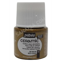 Pebeo Ceramic Seramik Boyası 15 Rich Gold