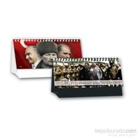 Keskin Color 2017 Mtk-791 Atatürk Resimli Karton Beyaz Üçgen Masa Takvimi 2017