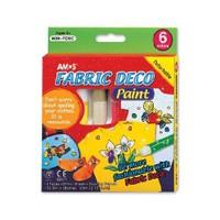 Amos Fabric Deco Paint Sökülebilir Kumaş Boyası 5 Renk FRD10P6 eol