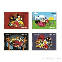 Angry Birds Spiralli Resim Defteri 17x25 15Yp.