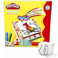 Play-Doh 6 Mini Jumbo Keçeli Kalem 9 Parça Küp Puzzle Play-Yb001