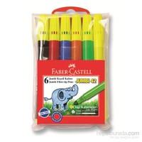 Faber-Castell Jumbi-Neon Floresan Markör, 6'lı Poşet (5068030642)