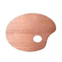 Ponart Ahşap Palet Oval 20x30x0.5 (A15441)