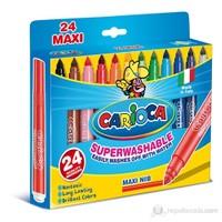 Carioca Süper Jumbo Süper Yıkanabilir Keçeli Boya Kalemi 24'Lü