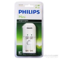 Philips SCB1211WB/12 200mAh AA/AAA 2 Lİ Şarj Cihazı, Beyaz