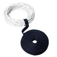 LogiLink KAB0050 Cırt Cırt Kablo Bağı, 16mm x 4m, Siyah