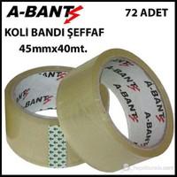 A-Bant Koli Bandı Şeffaf 45Mm X 40M ( 72 Li Paket )