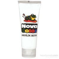 Nova Color Nc-259 Akrilik Boya Plastik Tüpte 75 gr Beyaz