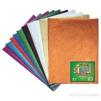 Nova Color Nc-275 Simli Karton 20x30 cm 10 Renk Karışık Set