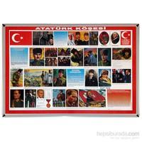 Akyazı 70x100 Atatürk Köşesi (Metal Çerçeve)