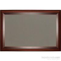 Akyazı 60x180 Geniş Ahşap Çerçeve Kumaşlı Pano (Gri)