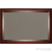 Akyazı 120x120 Geniş Ahşap Çerçeve Kumaşlı Pano (Gri)