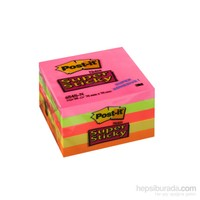 Post-it® Super Sticky Not, 5 Neon Renk, 90 yaprak, 76x76mm