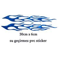Schwer 2Li Mavi Alev Sticker